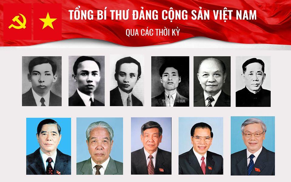 Tổng bí thư Đảng CSVN qua các thời kỳ