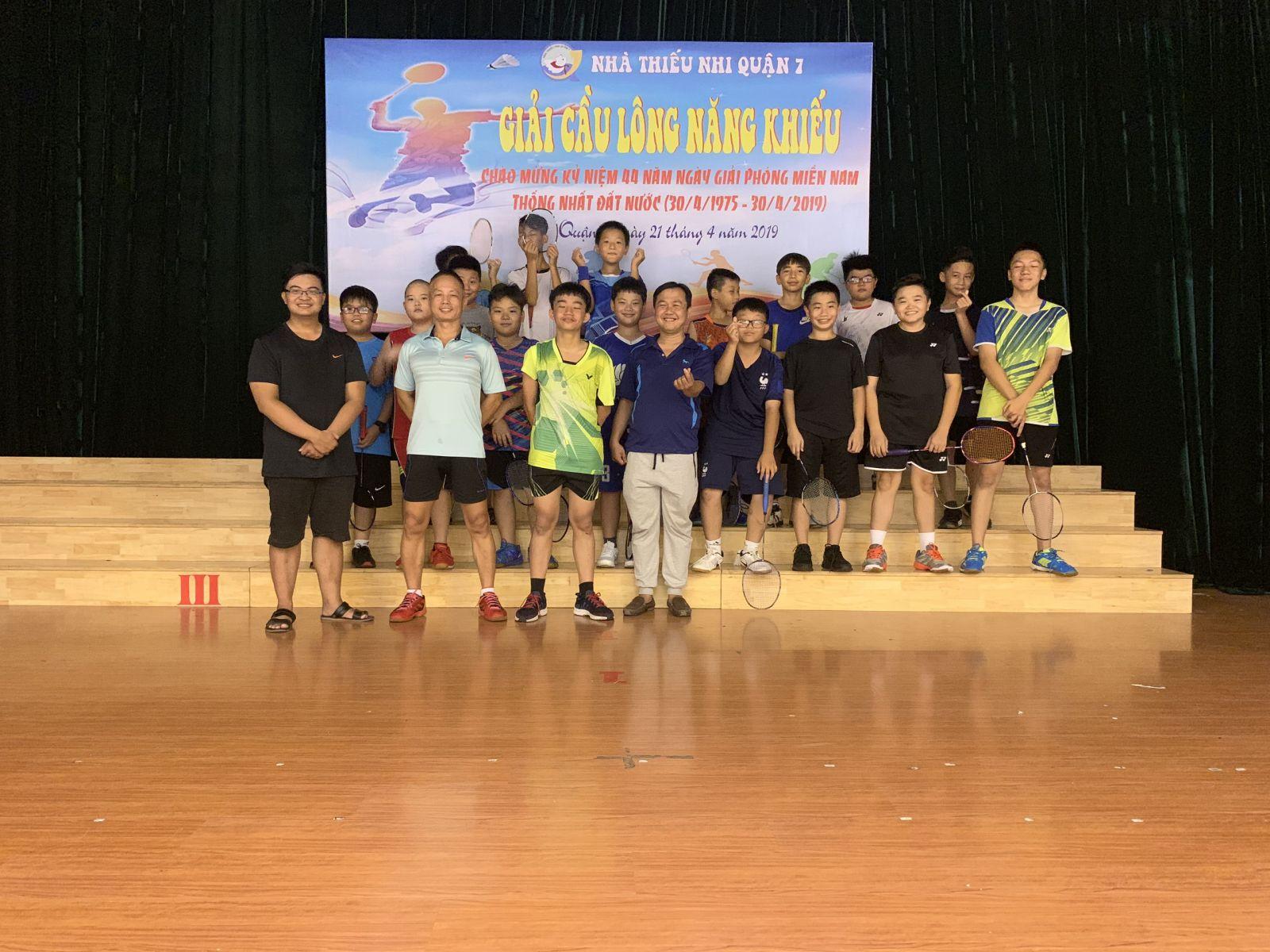 Tổ chức giải cầu lông năng khiếu năm 2019