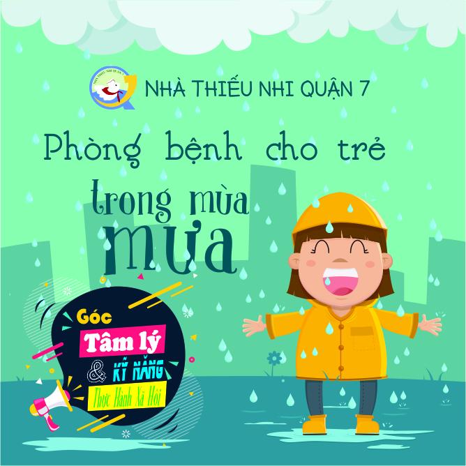 Phòng bệnh cho trẻ trong mùa mưa